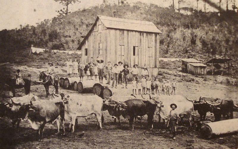 Propriedade da família Masotti na zona rural de Caxias do Sul no final do século XIX