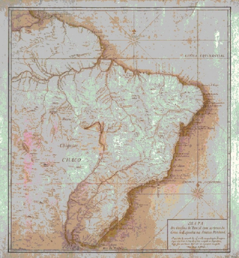 Tratado de Tordesilhas assinado em 1494 por Portugal e Espanha
