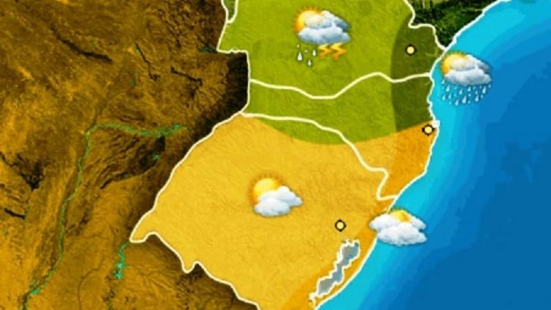 Tempo volta a abrir na quinta conforme previsão do Instituto Climatempo, elaborada para o Instituto Rio Grandense do Arroz