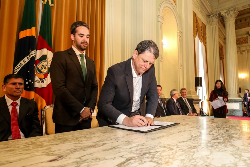 Tarcísio Gomes de Freitas disse que o RIS representa investimento, redução de custo logístico e incremento do PIB