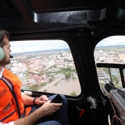 Governador Eduardo Leite visitou os municípios atingidos pelas chuvas na Fronteira Oeste