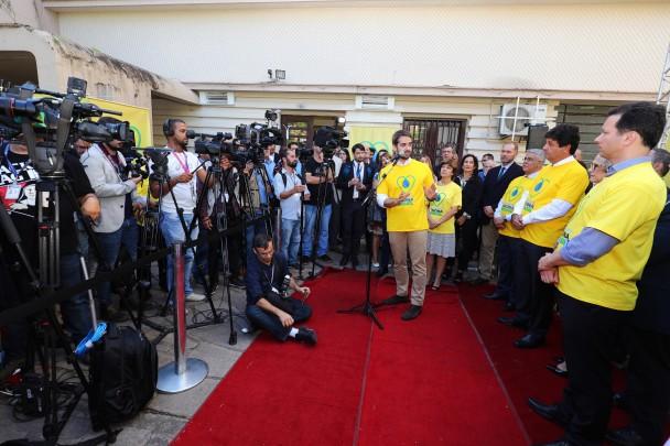 PORTO ALEGRE, RS, BRASIL, 08/04/2019 - Lançamento da Campanha Nacional de Vacinação 2019.  Fotos: Itamar Aguiar / Palácio Piratini
