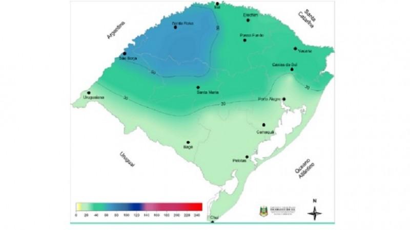 mapa tempo 6 a 13 junho