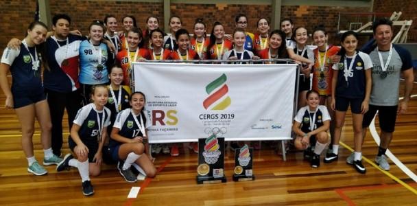 CERGS campeã Handebol feminino Escola São Domingos Torres