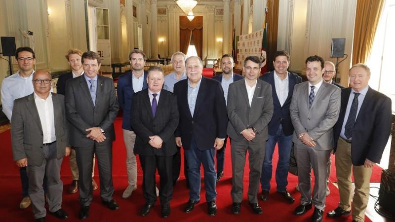 governador recebe empresários e investidores pellets