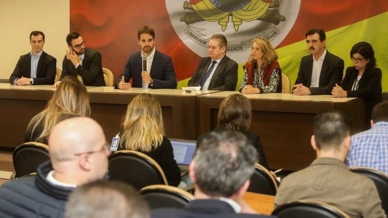 PORTO ALEGRE, RS, BRASIL, 07/10/2019 - Coletiva de imprensa. Foto: Felipe Dalla Valle/Palácio Piratini