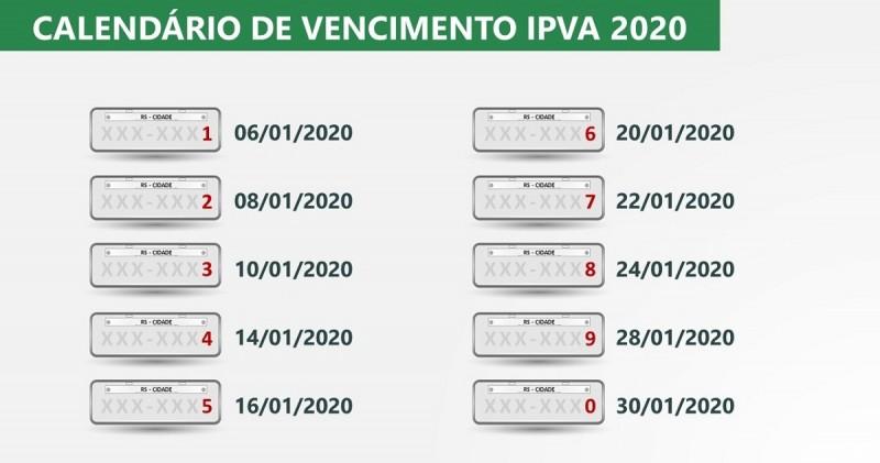 IPVAP 2020 calendário