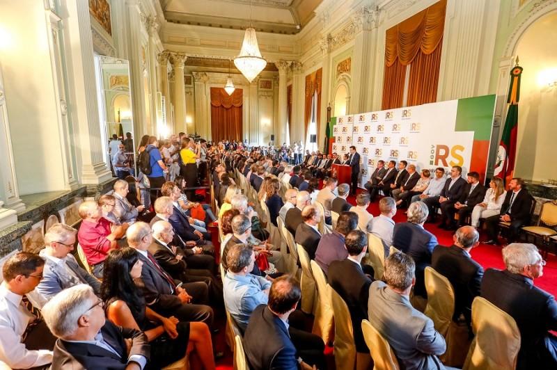 PORTO ALEGRE, RS, BRASIL, 09/01/2020 - Sanção do novo Código Ambiental. Fotos: Itamar Aguiar/ Palácio Piratini