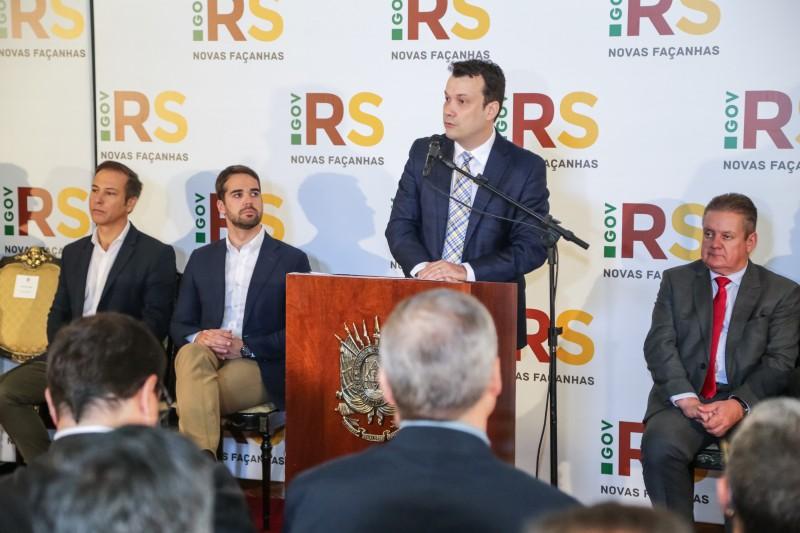 PORTO ALEGRE, RS, BRASIL, 09/01/2020 - Sanção do novo Código Ambiental. Fotos: Gustavo Mansur/ Palácio Piratini