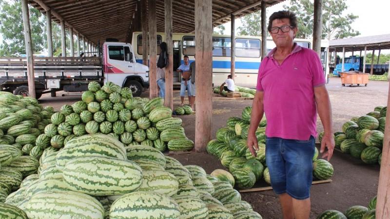 Efeitos da seca produtor de melancia