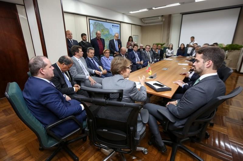 BRASÍLIA, DF, BRASIL, 12.02.2020 - Reunião com a ministra da Agricultura, Tereza Cristina. Foto: Rodger Timm/ Palácio Piratini