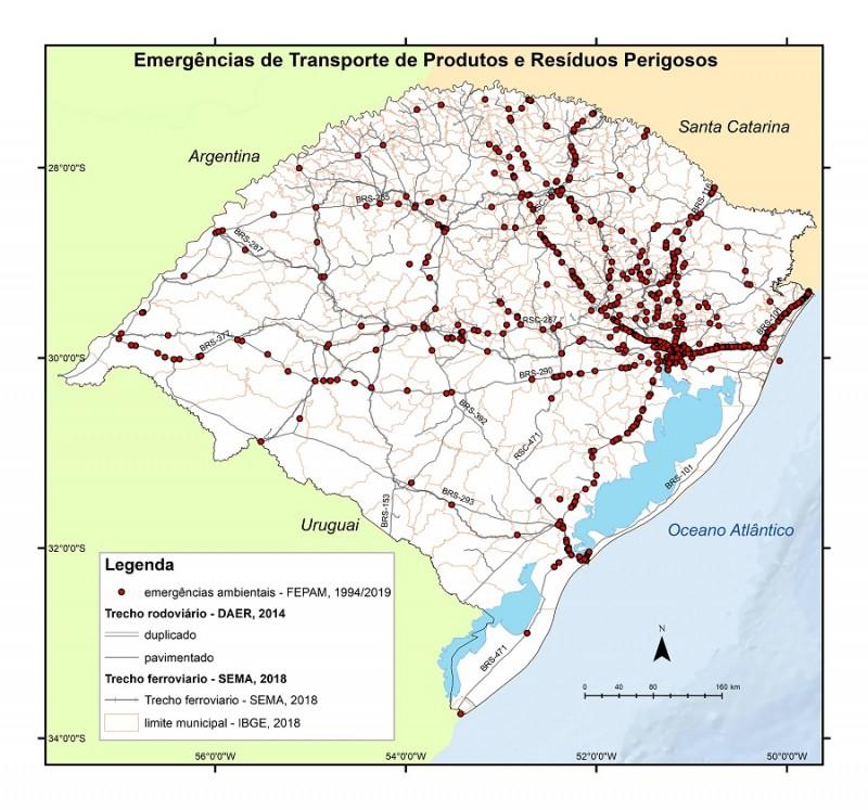 Mapa acidentes ambientais