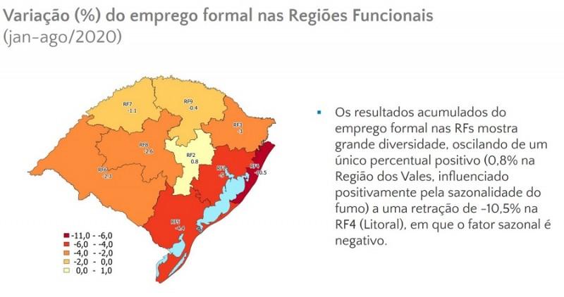Emprego formal por região