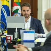 PORTO ALEGRE, RS, BRASIL, 23.10.2020 - Anúncio da Junta Comercial de isenção de taxas, por 90 dias, para a abertura de empresas. Fotos: Gustavo Mansur/ Palácio Piratini