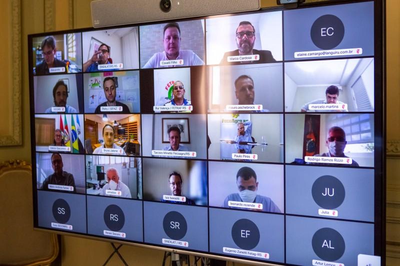 Secretários, parlamentares e integrantes de entidades participaram da reunião por videoconferência