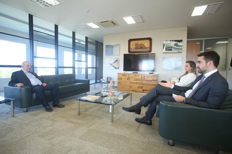 No TCU, Leite conversou com os ministros Nardes (foto) e Carreiro, abordando temas como privatizações e equilíbrio fiscal