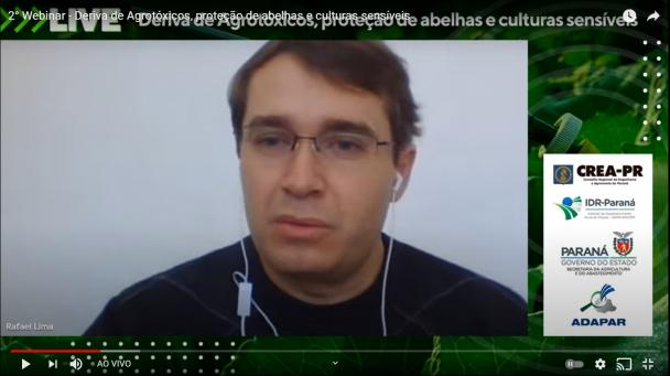 O chefe da Divisão de Insumos e Serviços Agropecuários, Rafael Lima, apresentou dados em evento
