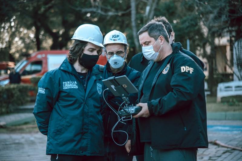 Polícia Federal auxilia o trabalho com imagens de drone e software para modelagem 3D da estrutura